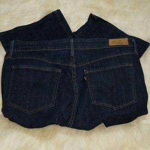 Levi dark denim jeans